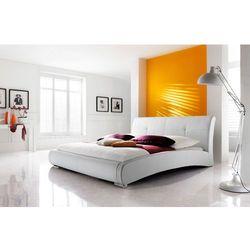 VERONA łóżko 180 cm tapicerowane białe - biały \ 180 x 200 cm