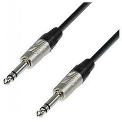 Adam Hall Cables 4 Star Series - Microphone Cable REAN 6.3 mm Jack stereo / 6.3 mm Jack stereo 1.5 m przewód mikrofonowy