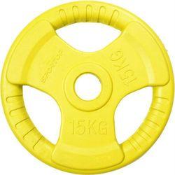 Obciążenie gumowane OLIMPIJSKIE 50mm 15 kg SPORTOP (żółte)