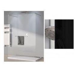 Ścianka wolno stojąca SanSwiss WALK-IN PUR szerokość 131 do 160 cm, chrom, szkło czarne SOLSM21055
