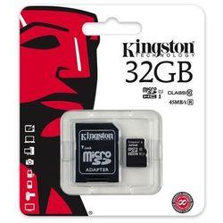 karta pamięci Kingston microSDHC 32GB class 10 UHS-I + adapter SD