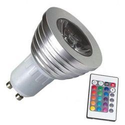 Superled Żarówka LED RGB z pilotem GU10 3W (30W) 250lm 230V 3088
