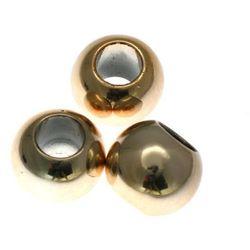 Koraliki Przekładki Akrylowe Kula Platerowane Kc Gold Złoty 14mm 40szt