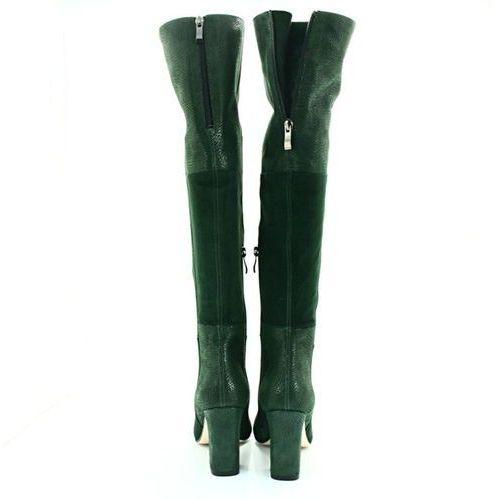 TYMOTEO DS 039A ZIELONE Kozaki za kolano Zielony