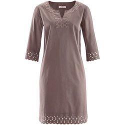 Sukienka, rękawy 3/4 bonprix brązowy