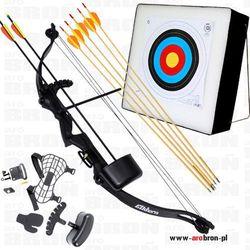 Profesjonalny zestaw strzelecki - Łuk Elkhorn + mata strzelecka + 7 strzał
