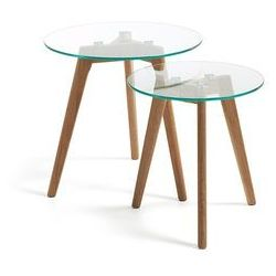 LaForma :: Szklane stoliki kawowe Kirb (2 set) - szklane
