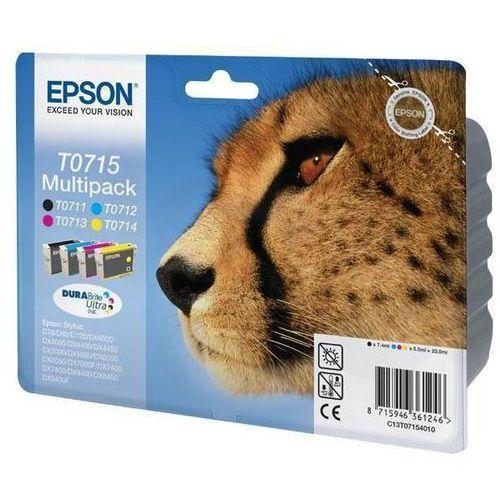Zestaw Epson T0715 CMYK MultiPack DURABrite | Stylus D78/92/120/120 Network E...