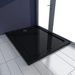 vidaXL Brodzik prysznicowy prostokątny ABS czarny 80 x 100 cm Darmowa wysyłka i zwroty