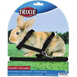 Trixie smycz i szelki dla królika - Czarne