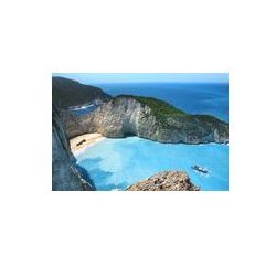 Foto naklejka samoprzylepna 100 x 100 cm - Wrak panorama zatoki