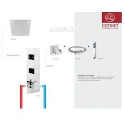 CORSAN Zestaw podtynkowy z termostatem, chrom CM-02T_40LED