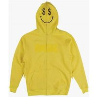 bluza DGK - Paid Custom Zip Up Fleece Yellow (YELLOW)