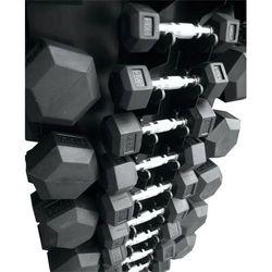 Zestaw hantli gumowanych ze stojakiem HEX 3-10kg + 12,5-25 kg Stayer Sport
