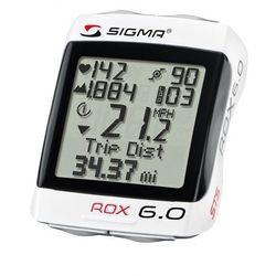bezprzewodowy licznik - komputer rowerowy Sigma ROX 6.0 CAD z pomiarem tętna i kadencją