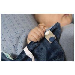 Snoozebaby Śpiworek-otulaczek z metkami granatowy