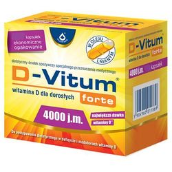 D-Vitum Forte 4000 j.m. witamina D dla dorosłych 120 kapsułek