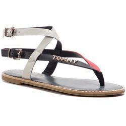 79e709005055c Sandały TOMMY HILFIGER - Iconic Flat Strappy Sandal FW0FW04023 Rwb 020