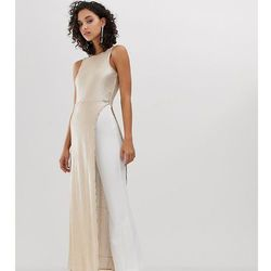 4956b47c9a3d6 River Island sequinned jumpsuit in white and gold - Gold. ASOS. Asortyment  kombinezon damski