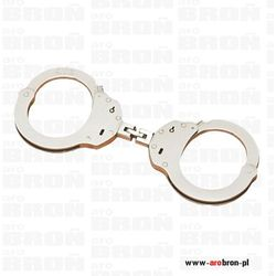 ALCYON Kajdanki POLICYJNE 1-zawiasowe profesjonalne nikiel 5230