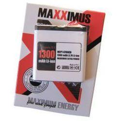 BATERIA MAXXIMUS NOKIA 6700c 1300mAh Li-ion BL-6Q