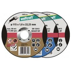 WOLFCRAFT Tarcza tnąca 115 mm do aluminium grubość 15mm 1668999 (ZNALAZŁEŚ TANIEJ - NEGOCJUJ CENĘ !!!)
