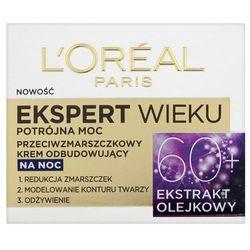 Loreal Paris Expert Wieku 60+ Przeciwzmarszczkowy odbudowujący krem do twarzy na noc 50 ml