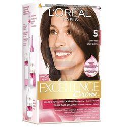 Loreal Paris Excellence Creme Farba do włosów Jasny Brąz nr 5