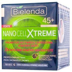 BIELENDA NANO CELL XTREME FORTE 45+ Krem na noc przeciwzmarszczkowy profesjonalny skora wrażliwa 50m