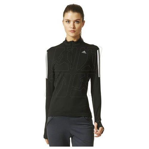 Bluza biegowa adidas Response 12 Zip Long Sleeve Tee W