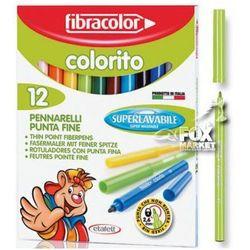 Flamastry pisaki mazaki FIBRACOLOR Colorito 12 kol