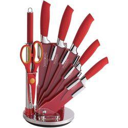 8 Elem. Zestaw Noży z Kolorową Powłoką Non-Stick ze Stojakiem - RL-RED8-C
