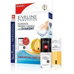 Eveline Nail Therapy Zestaw (Lakier odżywka Diamentowa 5ml + Olejek do skórek i paznokci arganowy 5m