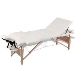 Kremowy składany stół do masażu 3 strefy z drewnianą ramą Zapisz się do naszego Newslettera i odbierz voucher 20 PLN na zakupy w VidaXL!