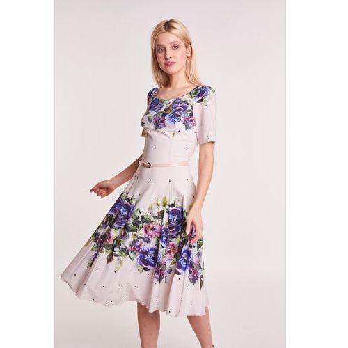 8379f31272 Rozkloszowana sukienka w kwiaty - porównaj zanim kupisz