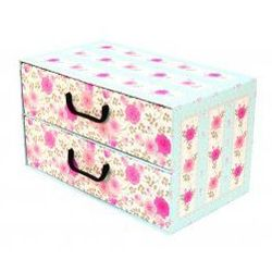 Pudełko kartonowe 2 szuflady poziome PROWANSALSKIE-BŁĘKITNE 44x25x25