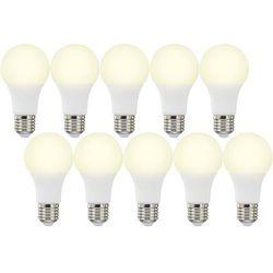 Żarówka LED Basetech, 10 W = 60 W, 820 lm, 3000 K, ciepła biel, 230 V, 12500 h, 10 szt.