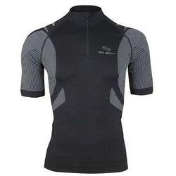 Koszulka rowerowa unisex SS10410 Brubeck (Kolor: Czarny, Rozmiar: XL)
