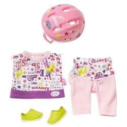 Ubranko dla lalki Baby born Deluxe Safety Set z kaskiem