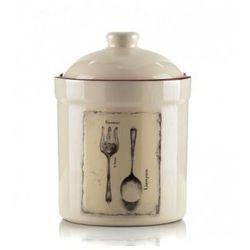 WYPRZEDAŻ-Wyrób ceramiczny pojemnik zamykany rozm.17x12x12cm.