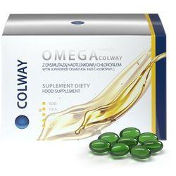 Omega 3 complex kwasy tłuszczowe olej z wiesiołka olej lniany EPA DHA Colway International 60szt.