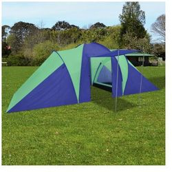 Wodoodporny namiot dla 6 osób niebiesko-zielony Zapisz się do naszego Newslettera i odbierz voucher 20 PLN na zakupy w VidaXL!