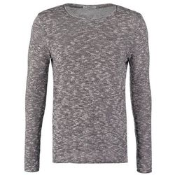 Jack & Jones JJPRMANNEL SLIM FIT Sweter light grey melange/black/white