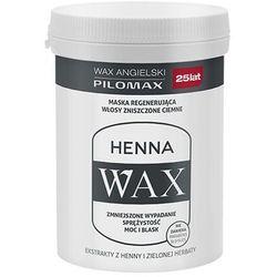 PILOMAX WAX Henna Maska do włosów zniszczonych ciemnych 240 ml