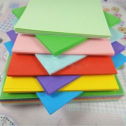 100Pc Origami Square Paper Double Sided Coloured Craft DIY Colorful Scrapbooking New 10CM Handmade Paper Mix color Paper