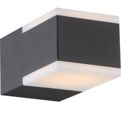 Zewnętrzna LAMPA ścienna NESO 34282 Globo aluminiowa OPRAWA elewacyjna LED IP54 outdoor prostokątna ciemnoszary