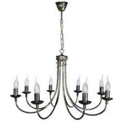 Lampa wisząca żyrandol stylowy TEMPLE 8xE14/40W