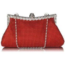 38d35e568bb0e Zachwycająca czerwona torebka wizytowa z koralików - czerwony
