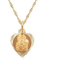 Złoty Komplet 333 z Matką Boską GRAWER ZZ20