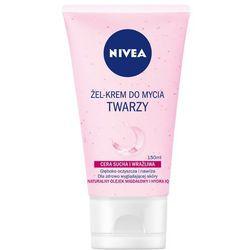 NIVEA 150ml Żel-krem do mycia twarzy Cera sucha i wrażliwa